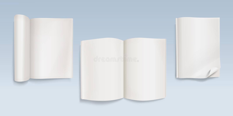 Reserve o abra el ejemplo en blanco del vector del cuaderno stock de ilustración