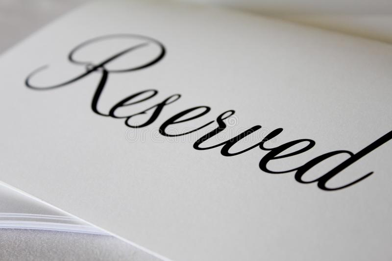 reserved fotos de stock royalty free