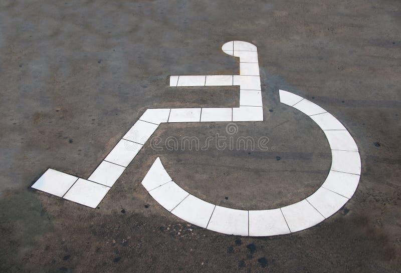 Download The Reserved Car Park For Handicapped Stock Illustration - Image: 25129723