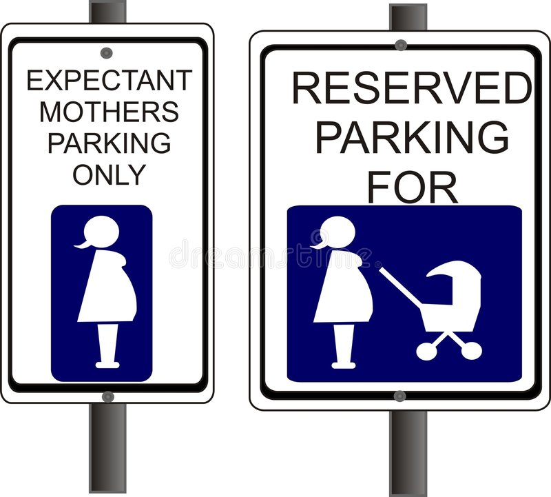 Reserved Parking. For expectant Mothers and new parents stock illustration
