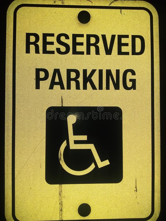 Reserved parking handicap sing stock images