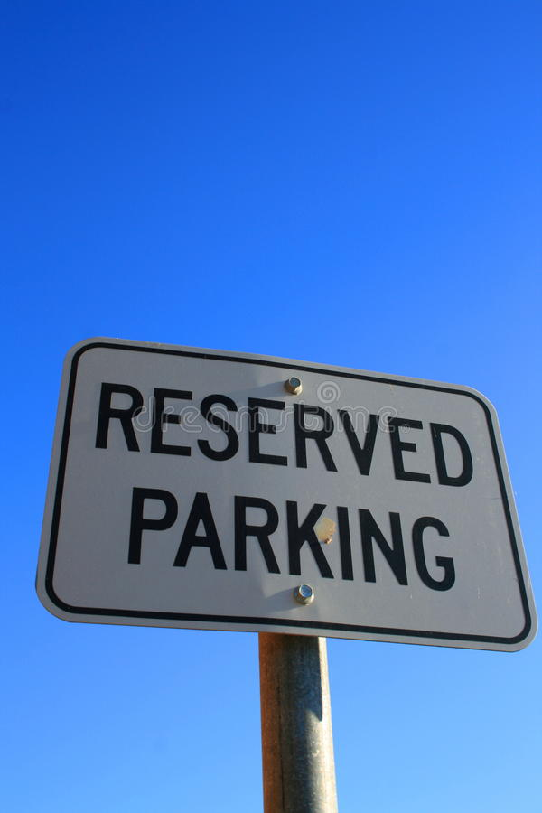 Free Reserved Parking Sign Stock Photo - 10671720