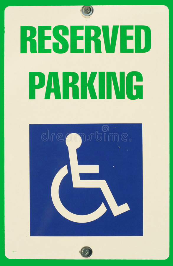 Reserved Parking sign royalty free stock photos