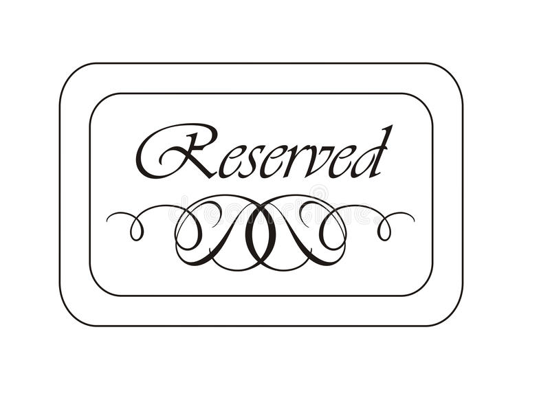 Reserved sign stock illustration illustration of for Reserved seating signs template