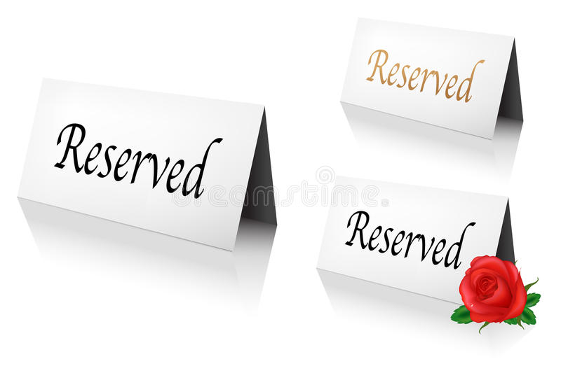 Download Reserved Sign Royalty Free Stock Image - Image: 19278756