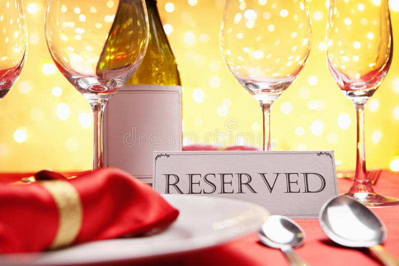 Reserved table stock photography