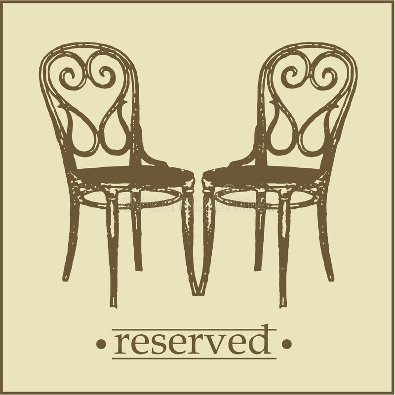 reserved tecken menu2 royaltyfri illustrationer