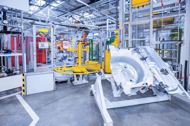 Reserveonderdelen in een autofabriek stock foto