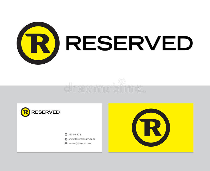 Reserverad logo stock illustrationer