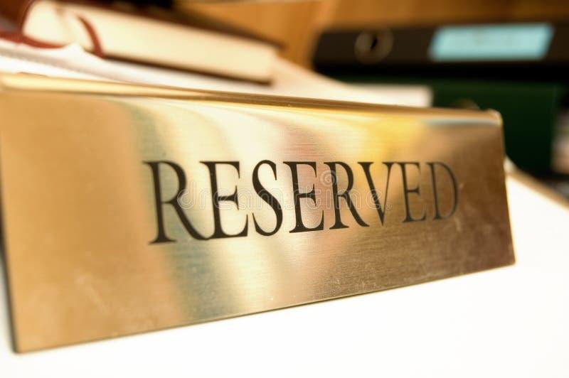 Reservierter Name stockfoto
