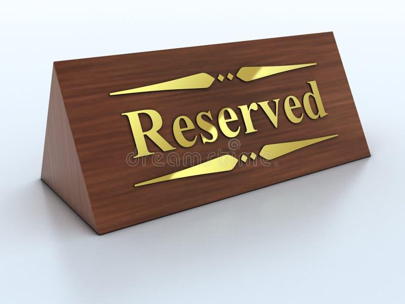 Reservierungszeichen stock abbildung