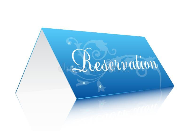 Reservierungszeichen vektor abbildung