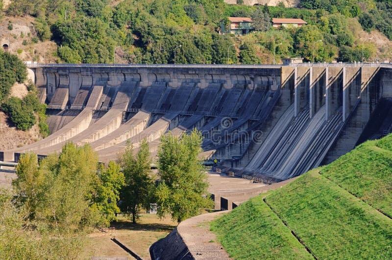 Reservoir dam stock photo