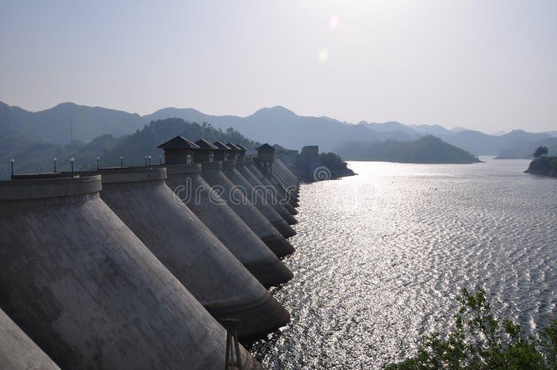Reservoir dam. Meishan reservoir dam anhui province china stock photography