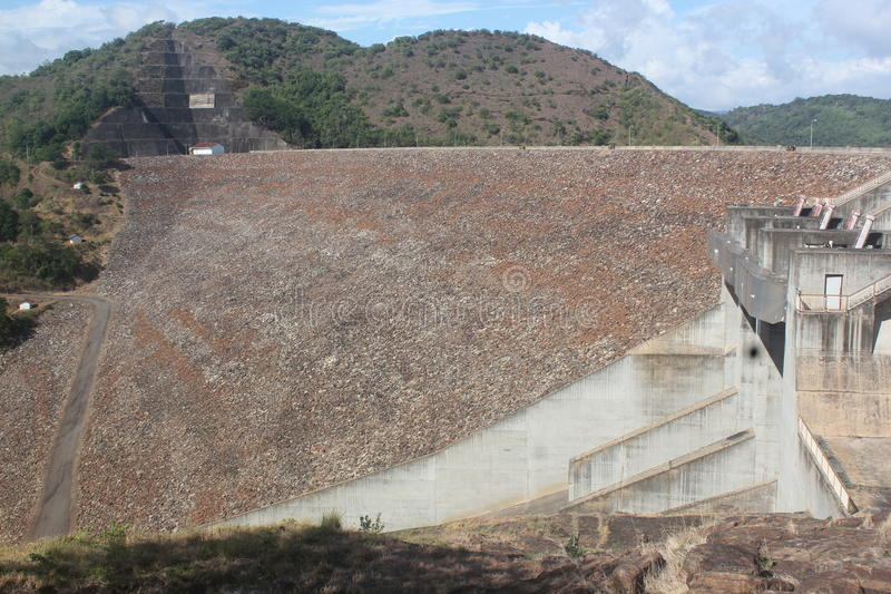 Reservoir dam royalty free stock photo