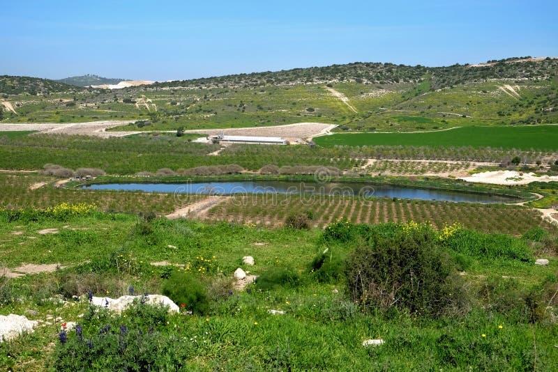 Reservoir der Kläranlage stockbilder