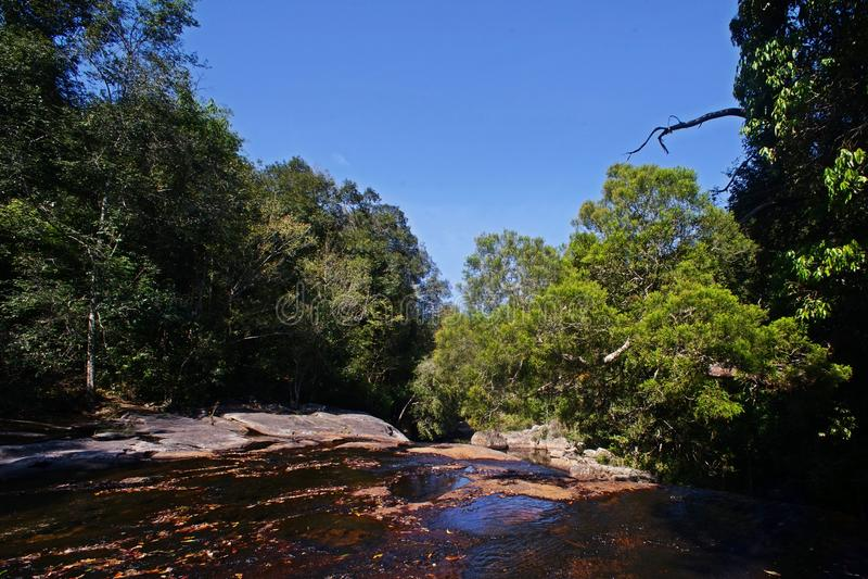 Reservoir en /flowing-stroom royalty-vrije stock fotografie