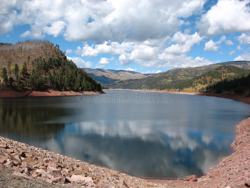 Reservoir in the fall royalty free stock image