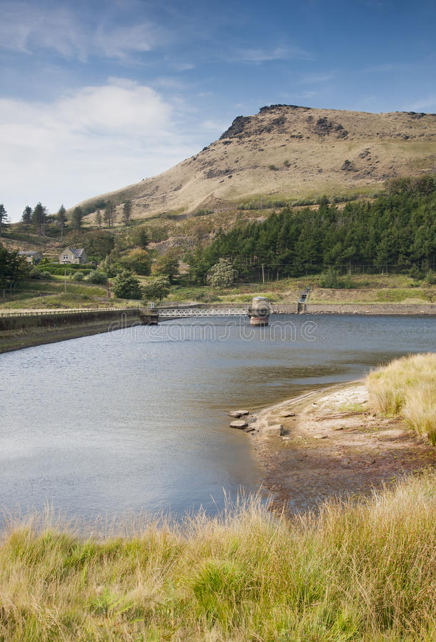Reservoir in het piekdistrict stock fotografie
