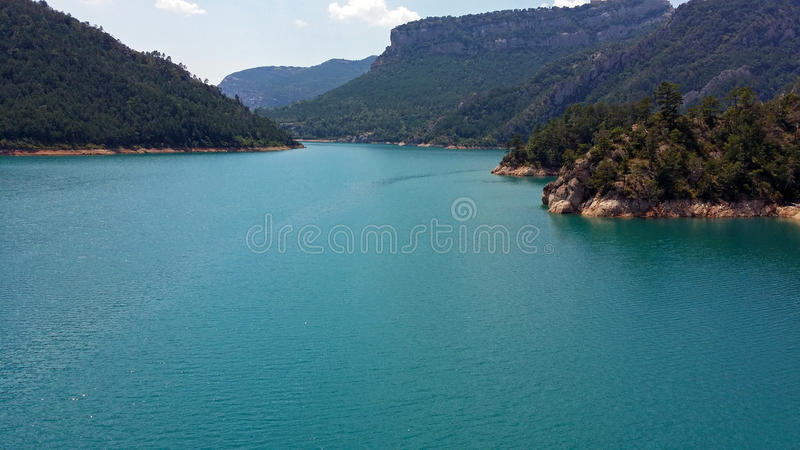 Reservoir of the Llosa del Cavall. In Catalonia, Spain royalty free stock image