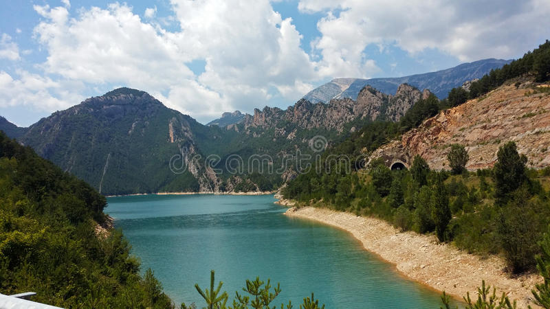 Reservoir of the Llosa del Cavall. In Catalonia, Spain royalty free stock photo