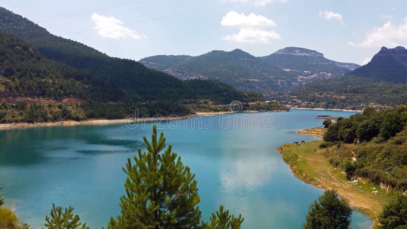 Reservoir of the Llosa del Cavall stock images