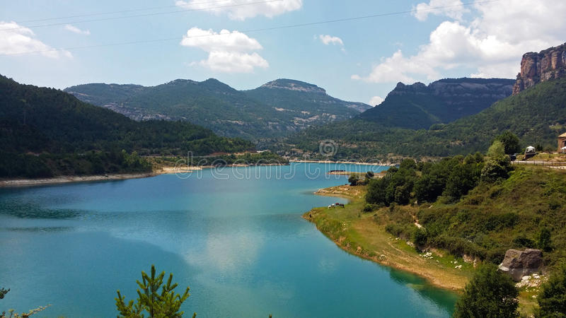 Reservoir of the Llosa del Cavall. In Catalonia, Spain royalty free stock photos