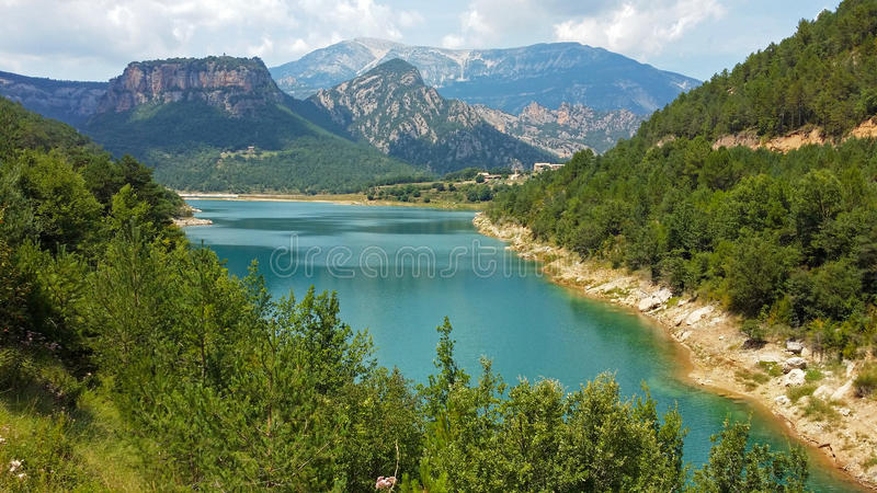 Reservoir of the Llosa del Cavall. In Catalonia, Spain stock image