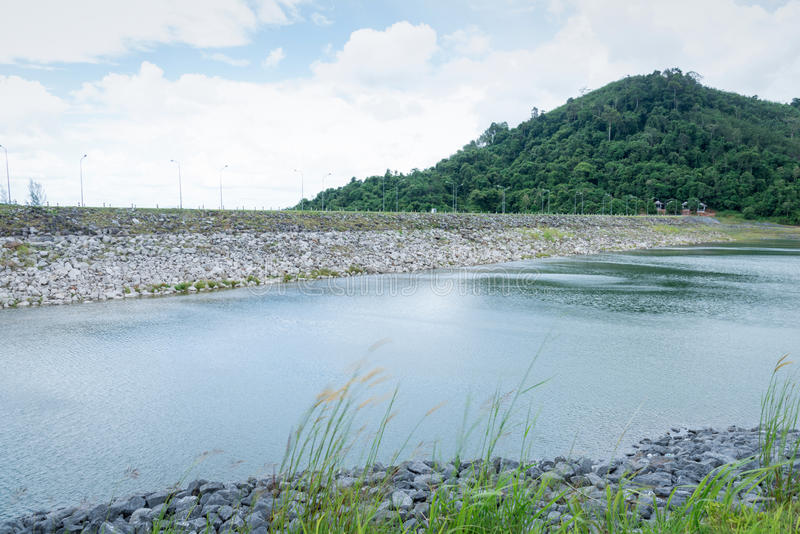 Reservoir. In Trang, thailand/Ta-Hew royalty free stock photography