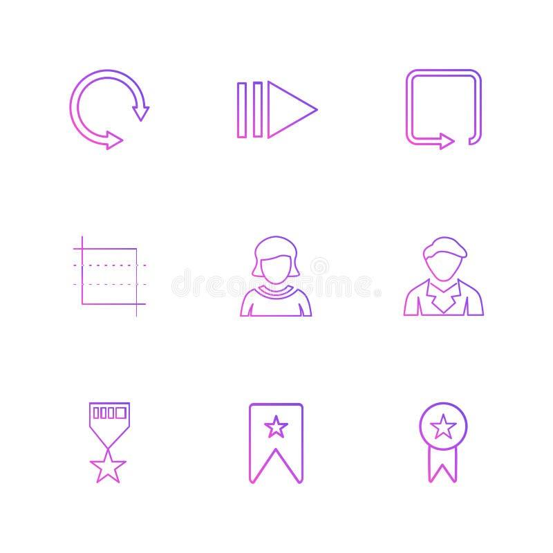 reset, avtar, odznaka, medal, strzała, kierunki, avatar, ilustracja wektor