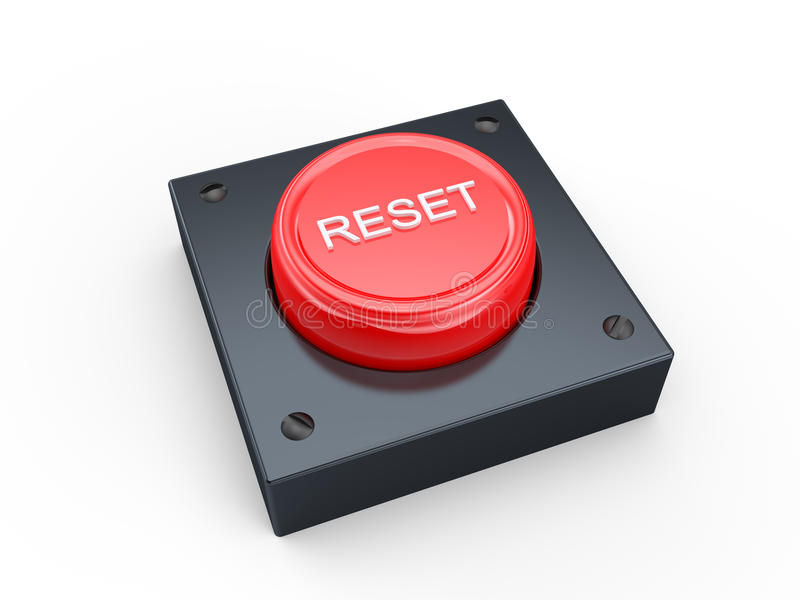 Reset button royalty free illustration