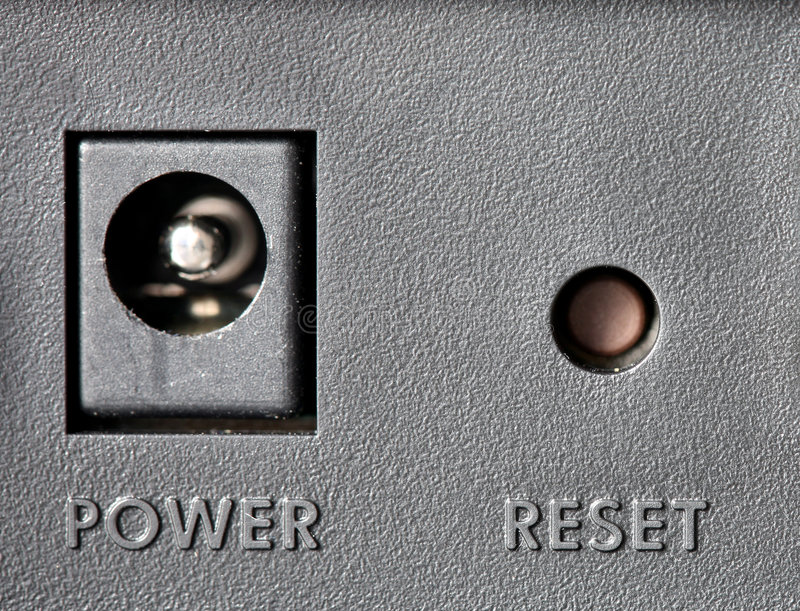 Reset button royalty free stock photography