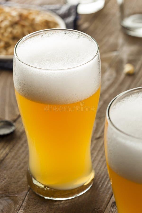 Resfreshing Lager Beer dorato fotografie stock