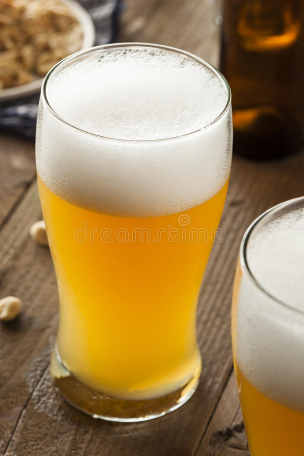 Resfreshing Lager Beer dorato immagine stock
