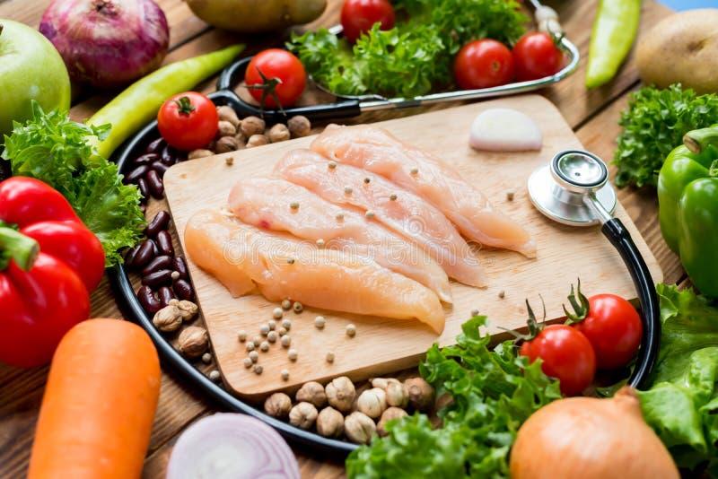 Resh鸡用沙拉 五颜六色新鲜有机 免版税图库摄影