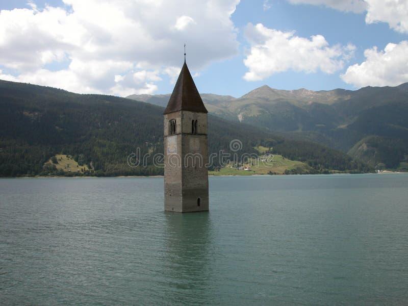 Download Resia Church stock photo. Image of tower, lake, resia - 5289166