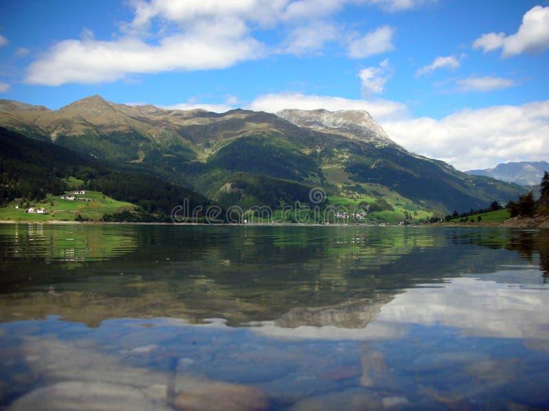 Resia lake stock photography