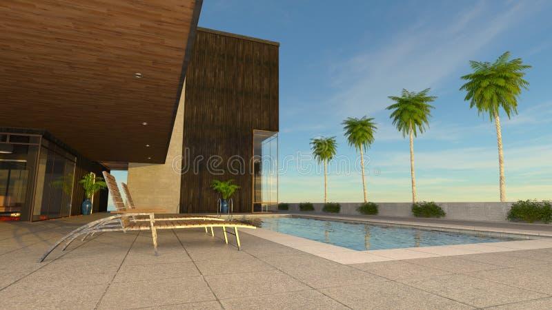 Residência com associação ilustração royalty free