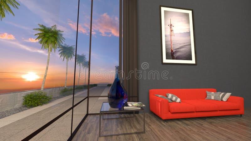 Residência com associação ilustração stock
