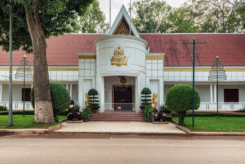 Residência real na cidade de Siem Reap, Camboja foto de stock