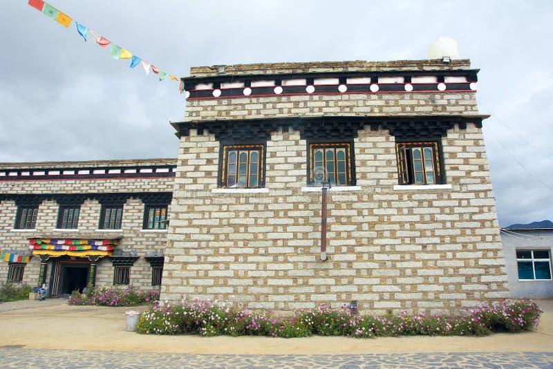 Residência tibetana imagens de stock