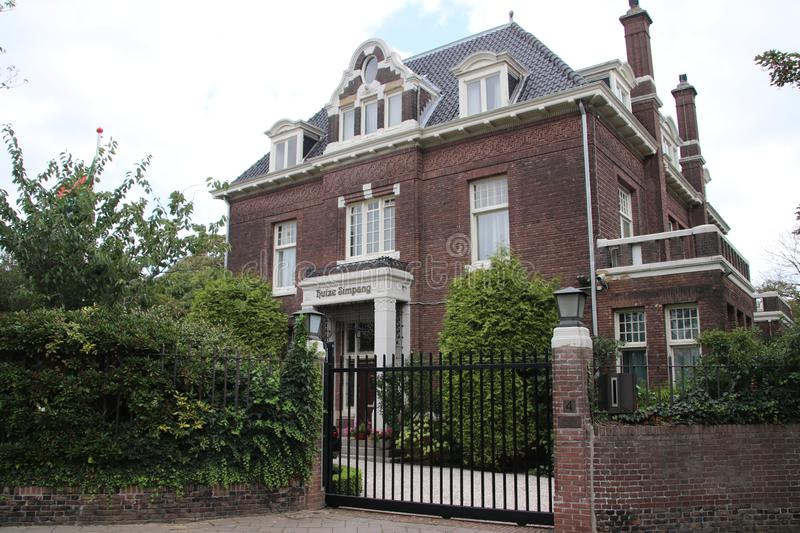 Residence of the ambassador of South Africain the city of The Hague. Where all diplomats are working in the Netherlands stock photo