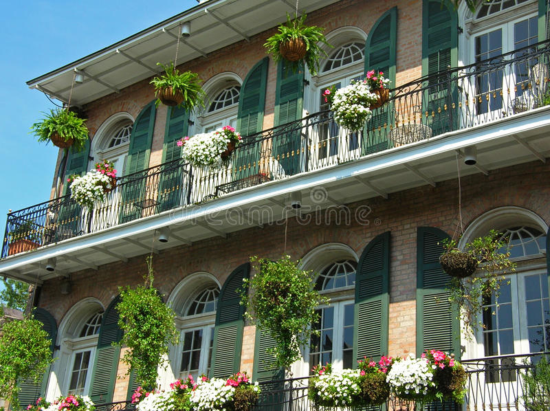 Residence in the French Quarter royalty free stock photos