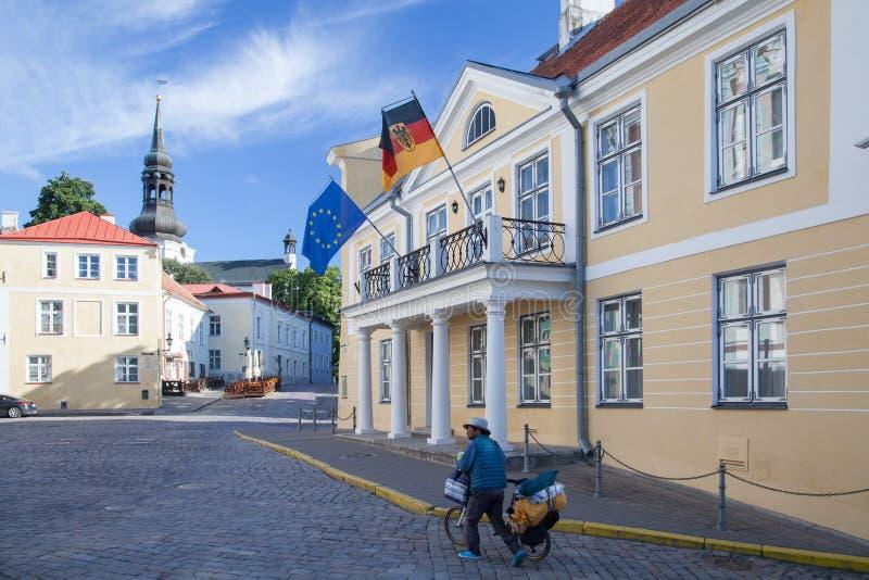 Residence of the German ambassador. Official residence of the German ambassador on Lossi plats in Tallinn, architect Fr. Schatten 1818 stock photos