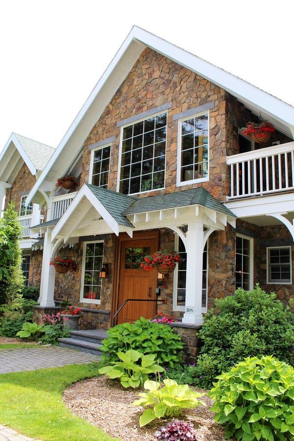 Lake Placid. Residence at Lake Placid, New York village stock photo