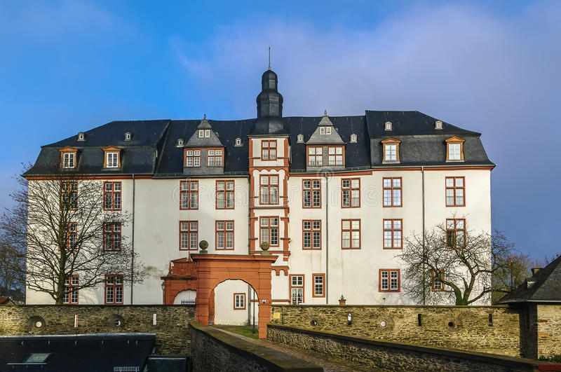 Residence palace, Idstein, Germany. The Renaissance-style Residence palace was built in 1614–1634, Idstein, Germany royalty free stock photo