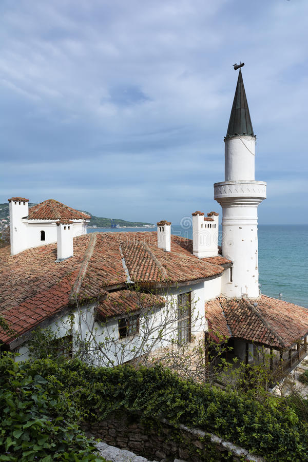 Residence of the Romanian queen in Balchik, Bulgaria royalty free stock images