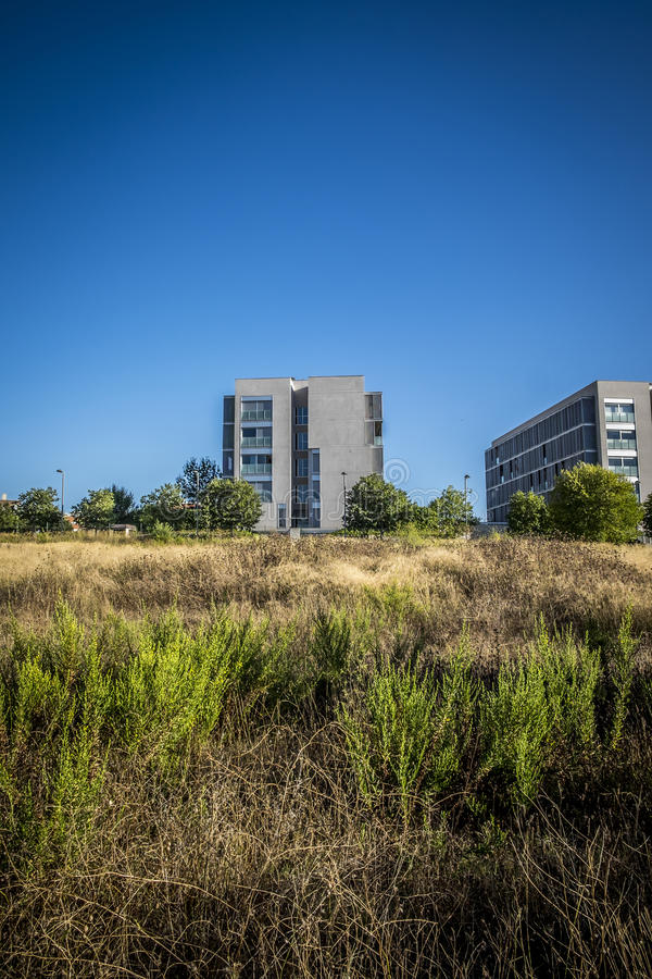 Residence zone in Sant Cugat del Valles in Barcelona. Spain royalty free stock photography