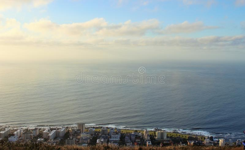 Residences by the beach in Cape Town South Africa stock photography