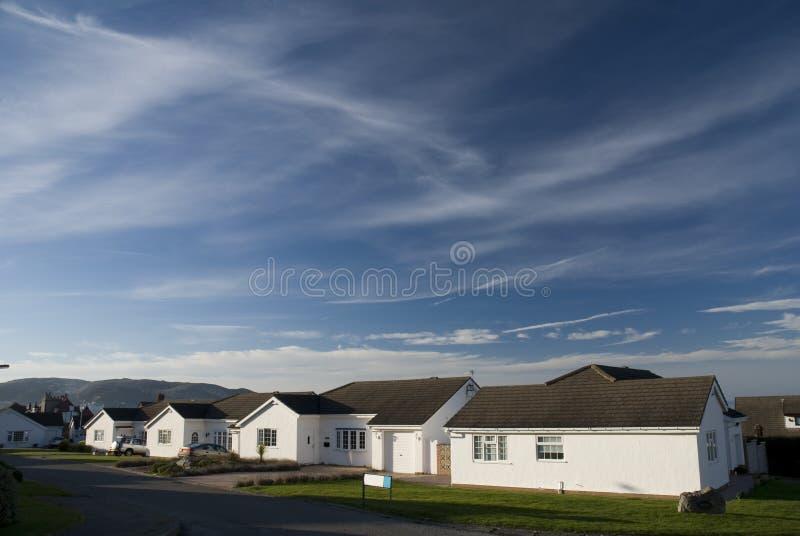 Residences in Llandudno. Wales stock photo